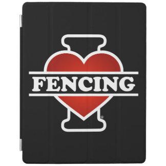 I Love Fencing iPad Cover