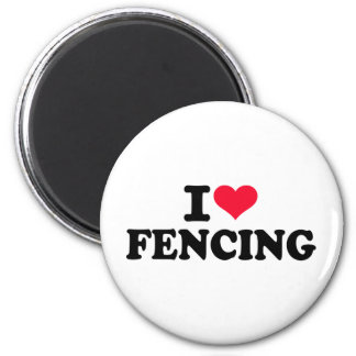 I love Fencing Fridge Magnet
