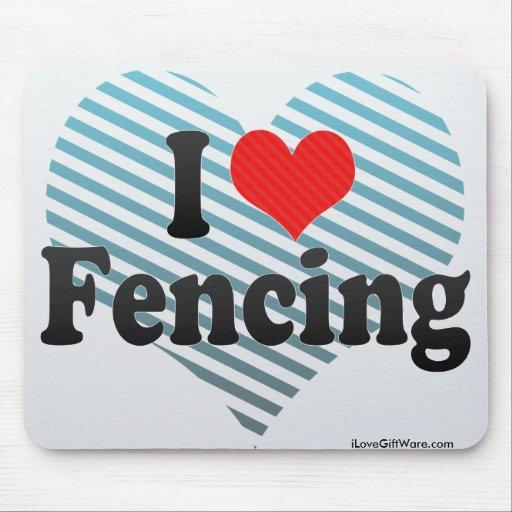 I Love Fencing Mousepad