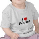 I Love Fencing Tee Shirts