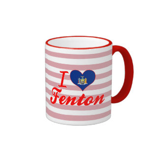 I Love Fenton, New York Mugs