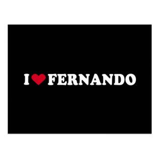 I LOVE FERNANDO POSTCARD