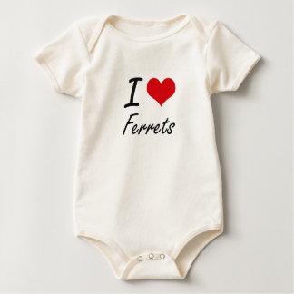 I love Ferrets Baby Bodysuit