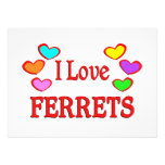 I Love Ferrets Custom Invitation