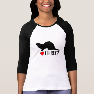 I Love Ferrets in Silhouette T-Shirt