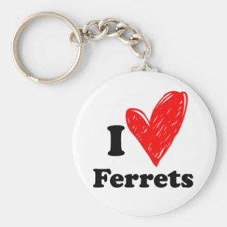 I love Ferrets Keychains