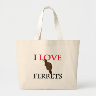 I Love Ferrets Large Tote Bag