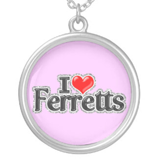 I LOVE Ferretts Sterling silver Necklace Jewelry