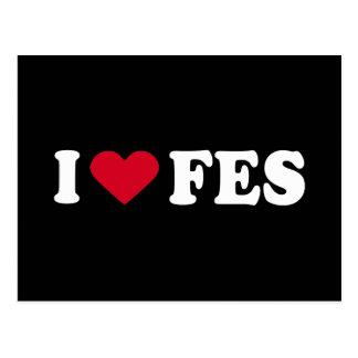 I LOVE FES POSTCARD