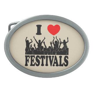 I Love festivals (blk) Belt Buckle
