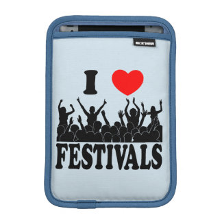 I Love festivals (blk) iPad Mini Sleeve