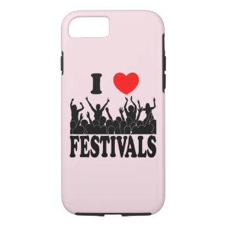 I Love festivals (blk) iPhone 8/7 Case