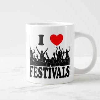 I Love festivals (blk) Large Coffee Mug