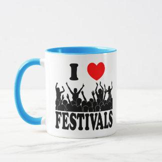 I Love festivals (blk) Mug
