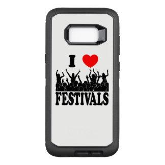 I Love festivals (blk) OtterBox Defender Samsung Galaxy S8+ Case