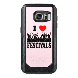 I Love festivals (blk) OtterBox Samsung Galaxy S7 Case