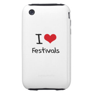 I Love Festivals Tough iPhone 3 Covers