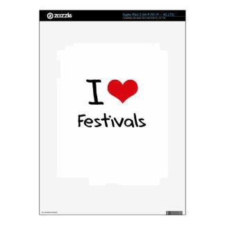 I Love Festivals iPad 3 Skins