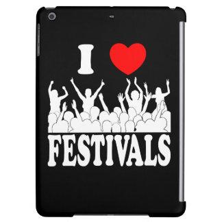 I Love festivals (wht) iPad Air Cover