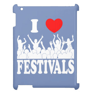 I Love festivals (wht) iPad Cases
