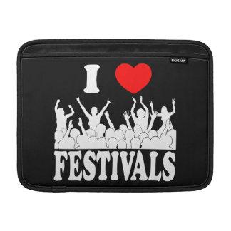 I Love festivals (wht) MacBook Air Sleeve