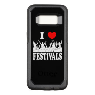 I Love festivals (wht) OtterBox Commuter Samsung Galaxy S8 Case