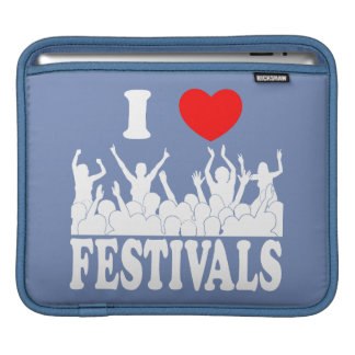 I Love festivals (wht) Sleeve For iPads