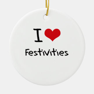 I Love Festivities Christmas Tree Ornaments