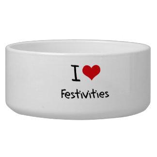 I Love Festivities Dog Bowl
