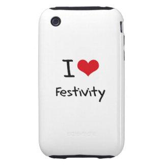 I Love Festivity Tough iPhone 3 Case