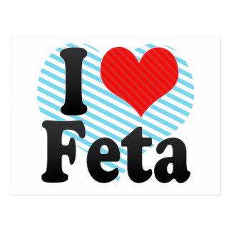I Love Feta Postcard