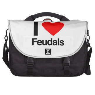 i love feudals laptop bags
