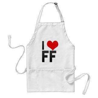 I Love FF Adult Apron