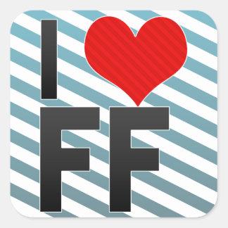 I Love FF Square Sticker