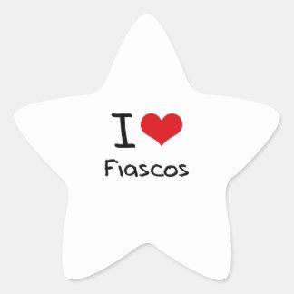 I Love Fiascos Star Stickers