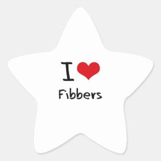 I Love Fibbers Star Sticker
