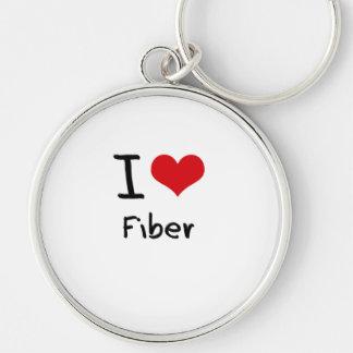 I Love Fiber Key Chains