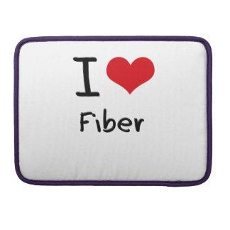 I Love Fiber MacBook Pro Sleeves
