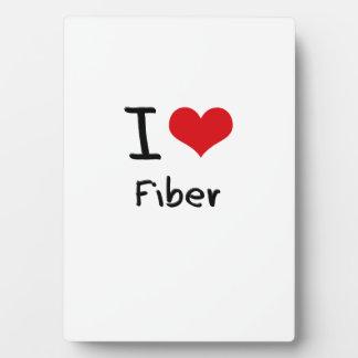 I Love Fiber Display Plaque