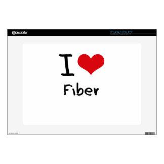 I Love Fiber Laptop Decals