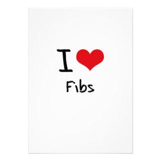 I Love Fibs Personalized Invites