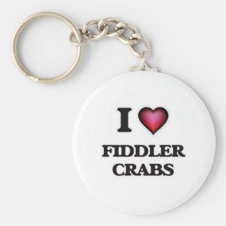 I Love Fiddler Crabs Keychain