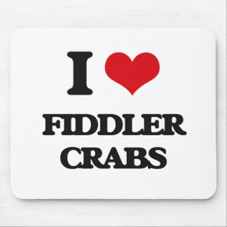 I love Fiddler Crabs Mouse Pad