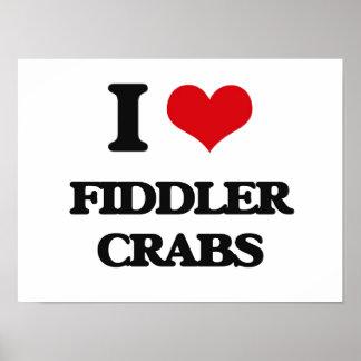 I love Fiddler Crabs Poster