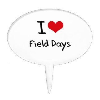 I Love Field Days Cake Topper