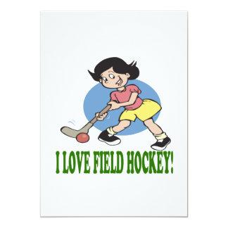 I Love Field Hockey 2 Card