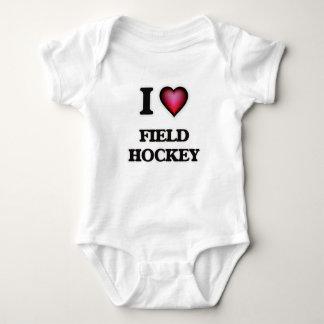 I Love Field Hockey Baby Bodysuit