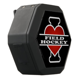 I Love Field Hockey Black Bluetooth Speaker