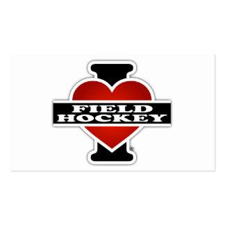 I Love Field Hockey Business Card