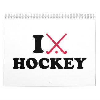 I love Field hockey Calendar